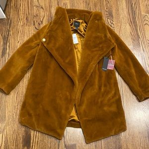 Forever 21 Copper Brown Teddy Faux Fur Coat